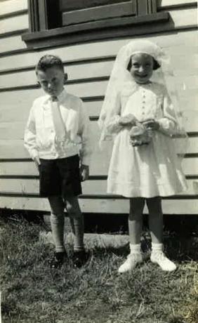 Maxwell & cousin Nola Seldon, St John's circa 1942