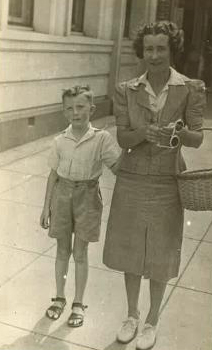 Maxwell and Mother, circa 1945