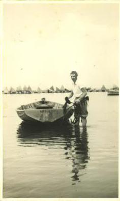 Maxwell at Lake Illawarra, circa 1956