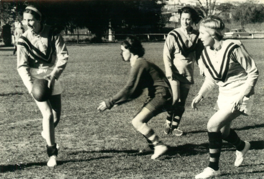 Lawler, Denise - Dapto Y.C.W. (Young Christian Workers) playing Greenacres Younger Set at Reed Park, Dapto circa 1964