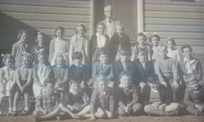 Marshall Mt Primary School circa 1955. Trevor Smith, front row third from right. On his left is Brian Downes, on his right is Keith Timbs.