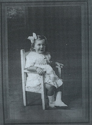 Mavis as a child.