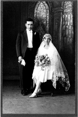 Frances Chick - Joe and Mary's wedding 1929