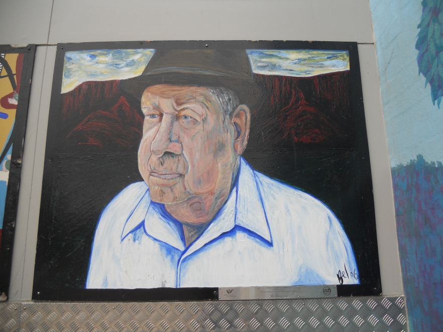 Fred Moore mural, Ribbonwood centre, 2006