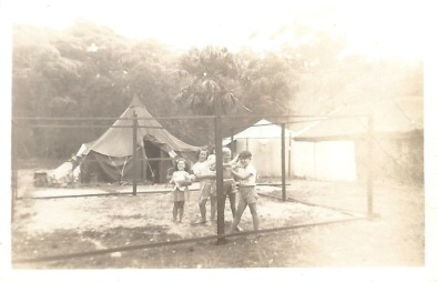 Shack frame, Christmas 1949