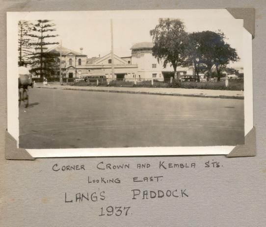 Lang's Paddock, Cnr Crown and Kembla Street