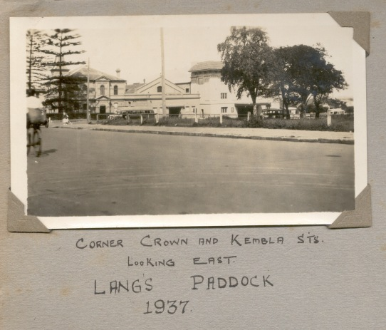 Lang's Paddock, Cnr Crown and Kembla Street