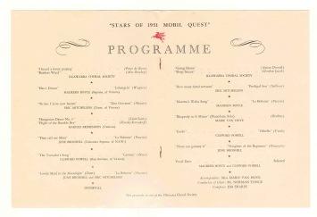 1951 Mobil Quest Wollongong Recital 2