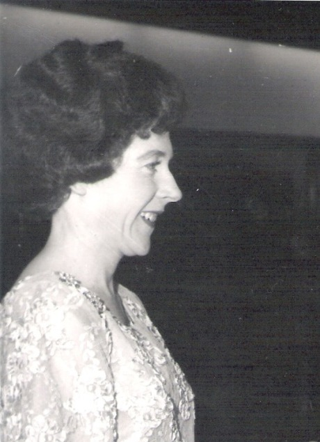 Portrait of Helga at Wollongong City Council Civic Ball celebrating opening of new hall in 1965.