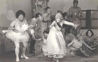 "Production shot of The Arcadians ""Cinderella"" production, Dec 1973"