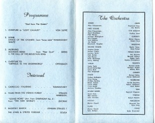 "Wollongong Symphony Orchestra ""A Concert of Popular Music"" Program, 28th Oct 1972"