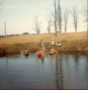 Canoeing at Logbridge Farm, Mt. Keira