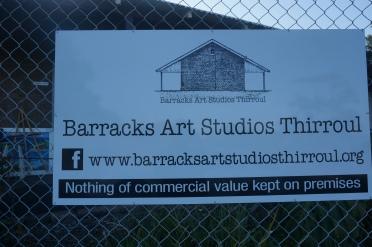 Barracks Art Studio Thirroul Sign