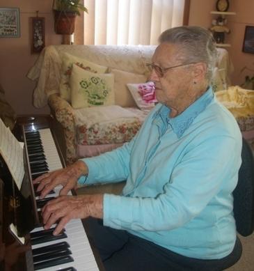 Joyce Playing The Piano