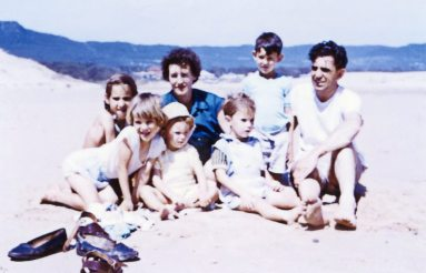 Betty, Robert, and children