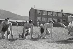 Wollongong High School - May 1957 - John in middle (P06666)