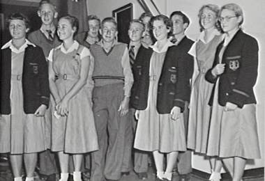 Wollongong High School - May 1957 - John third from right (P06669)