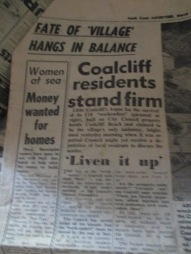 Newspaper Article - Coalcliff Shacks