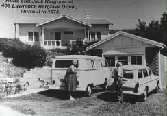 408 Lawrence Hargrave Drive - Rube and Jack Hargrave at their home in Thirroul - P16384